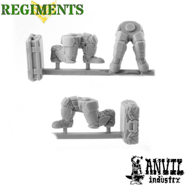 Picture of Male Armoured Legs - Sitting / Kneeling (3)