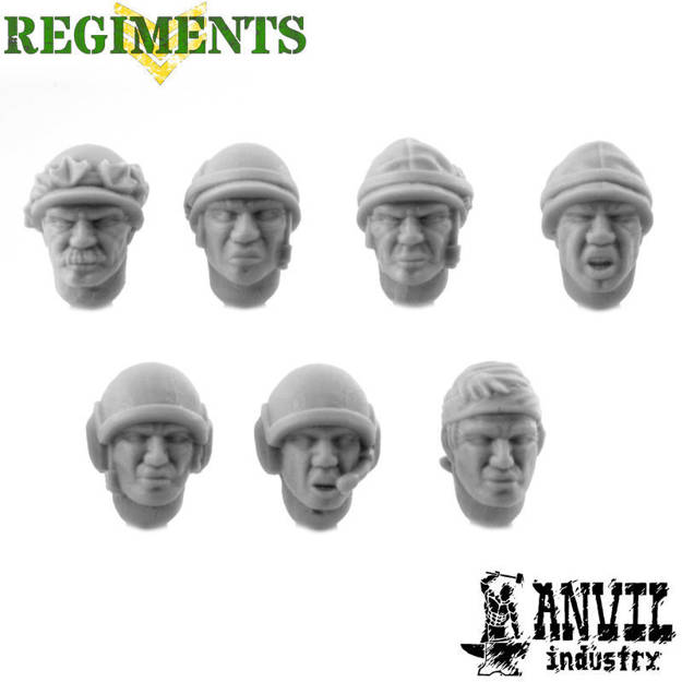 Picture of Jungle Fighter Heads with Helmets - Male (7)