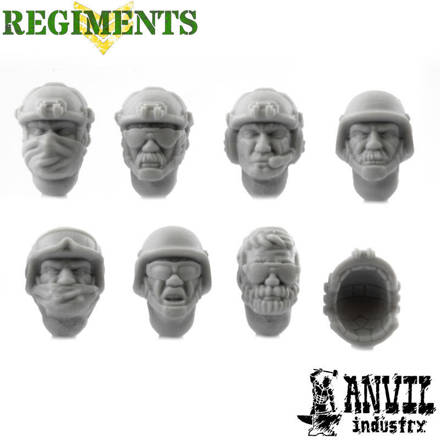 Picture of PMC Heads with Helmets - Male (7)