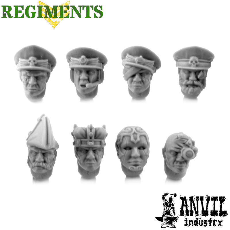 Dress Uniform Officer Heads [+£0.50]