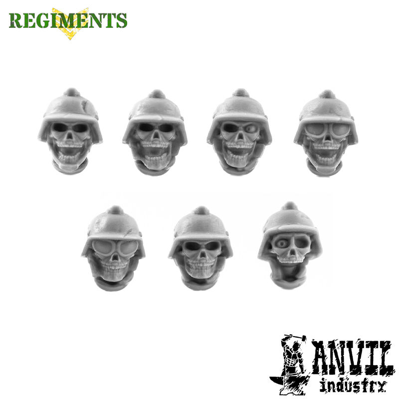 Skull Heads with Stahlhelms