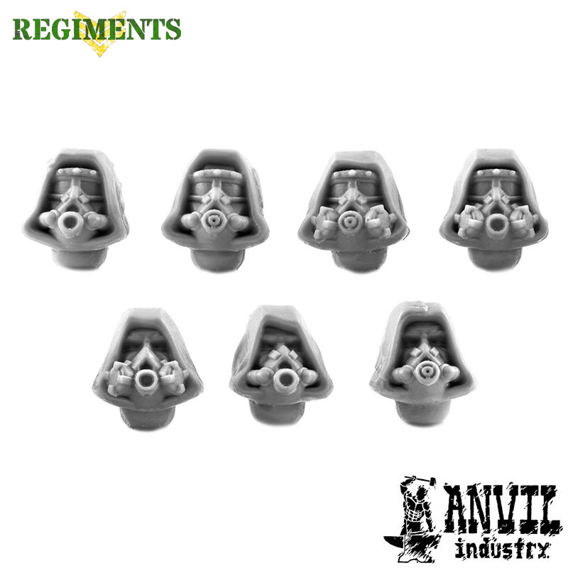 Hooded Cultist Heads with Gasmask