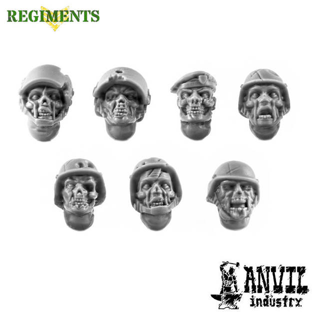 Picture of Zombie Heads with Military Helmets (7)