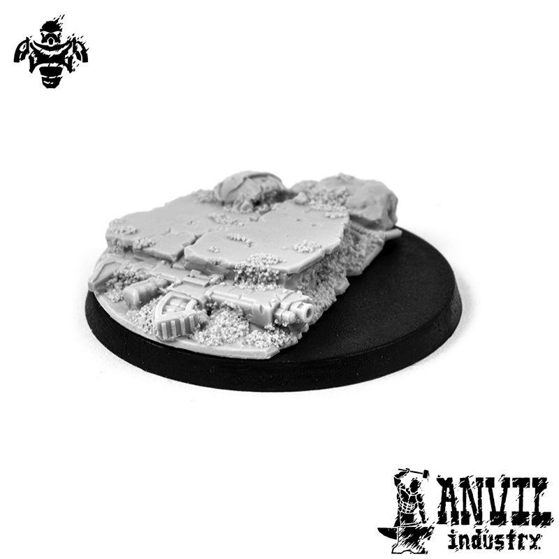 Broken Concrete - 40mm Character Base Topper (1) [+$2.73]