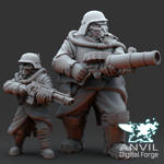 Render showing the Scale of the Ogre against a normal Regiments figure
