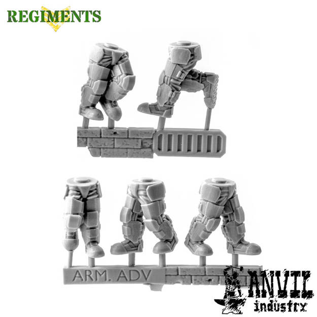 Picture of Male Armoured Legs - Advancing (5)