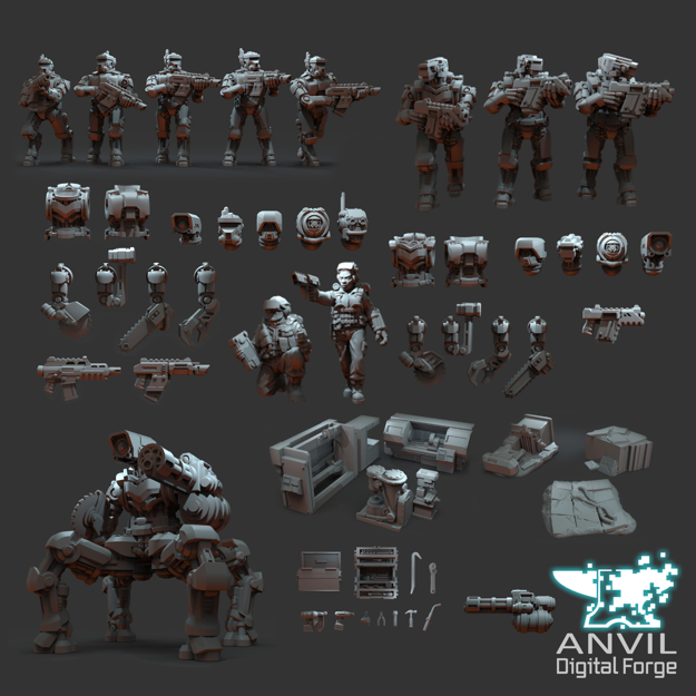 Picture of Digital - Regiments and Exo-Lord Automata (Full Bundle)