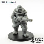 Picture of 3D Print (SLA) - Armoured Trencher Ogre (Gas Mask)