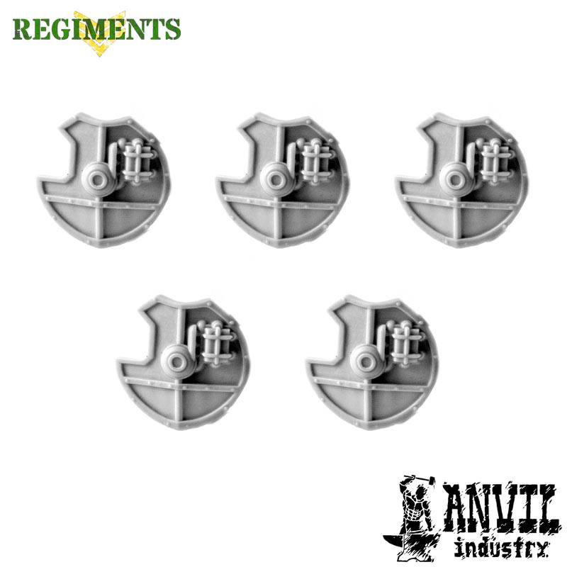 5 Small Round Shields [+$3.63]