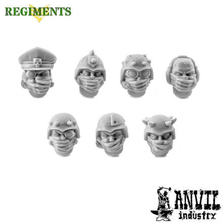 Picture of Severed Hand-Mask Cultist Heads (7)