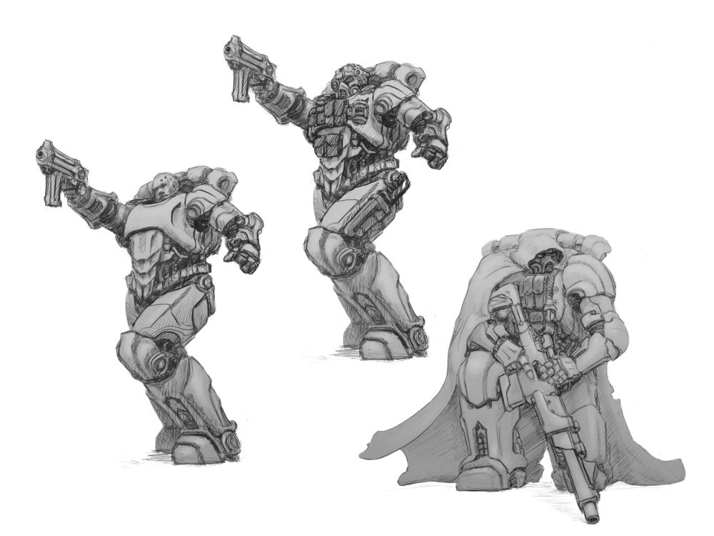 Exo-Lord Power Armoured Heroic Scale Miniatures